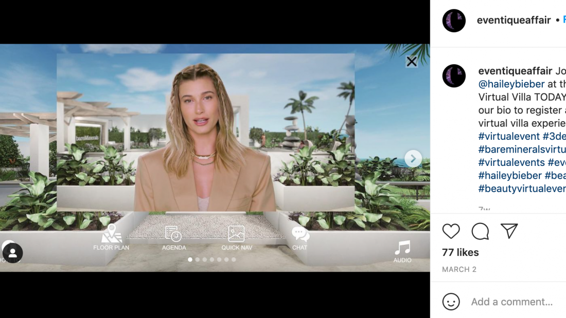 Hailey Bieber for bareMinerals with Eventique and Long Haul Films